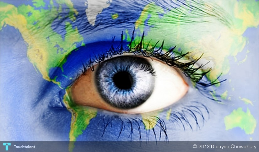 open your eyes to see the world touchtalent for everything creative