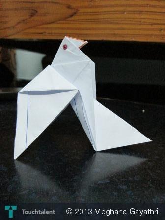 Origami Dove in Crafts