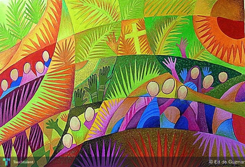 Image result for palm sunday art