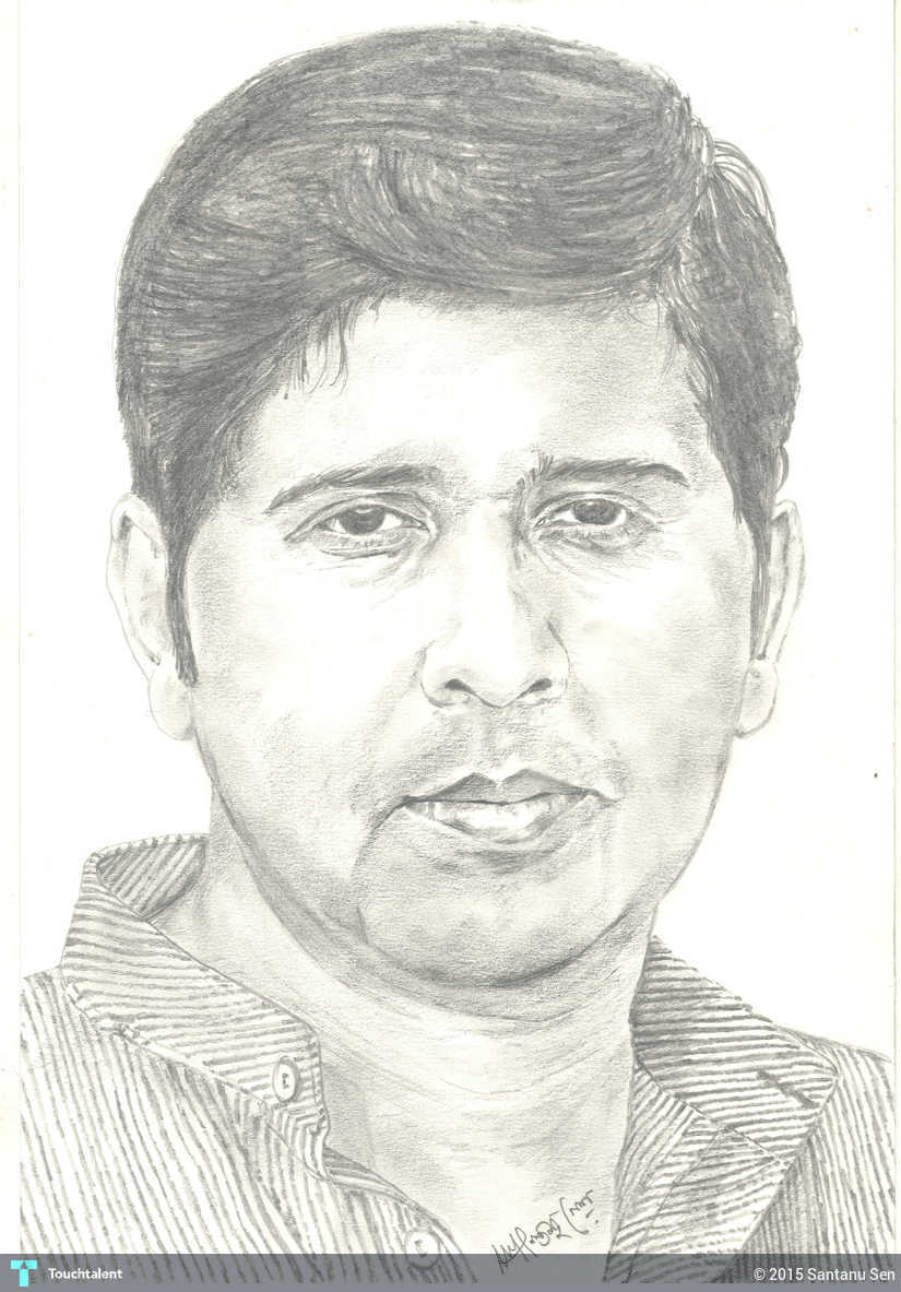 Pencil sketch self portrait touchtalent for everything creative