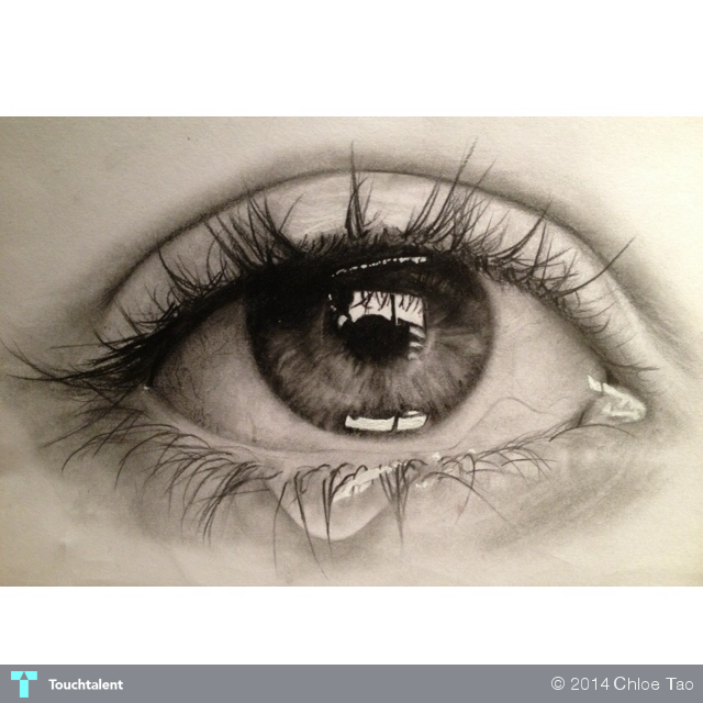 Pencil drawings of eyes crying pictures