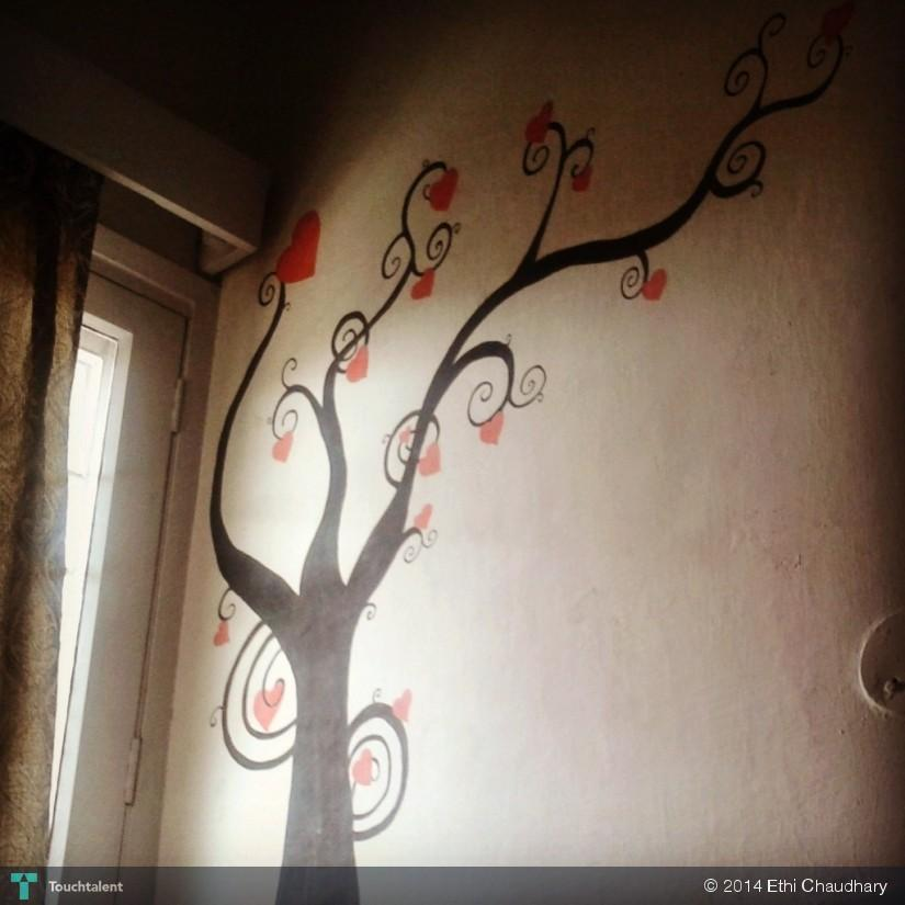 Poster Paint On Wall Touchtalent For Everything Creative