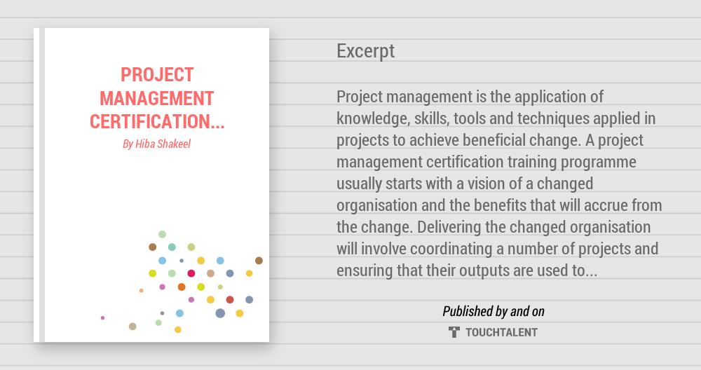 Project Management Certification Training Design Hiba Shakeel