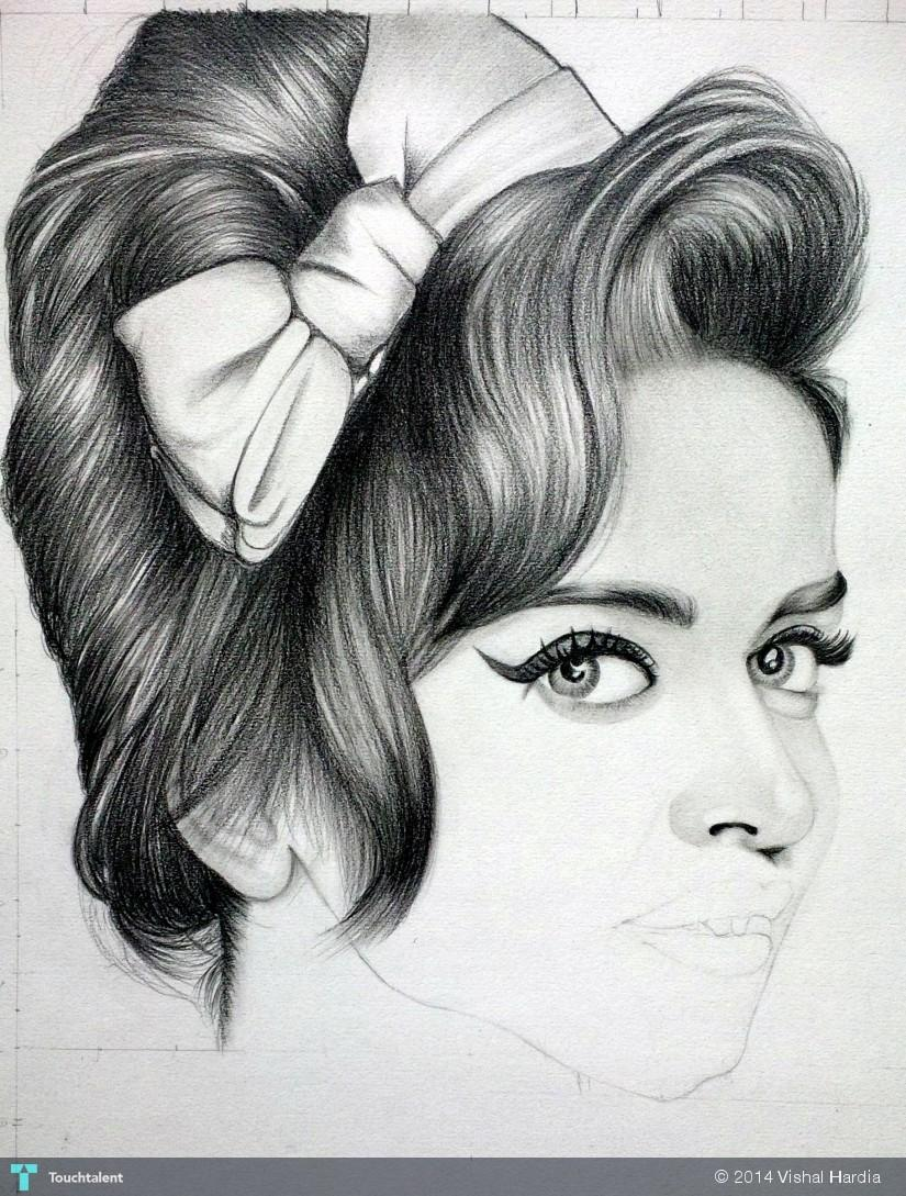 Queen of bollywood deepika padukone sketching vishal hardia
