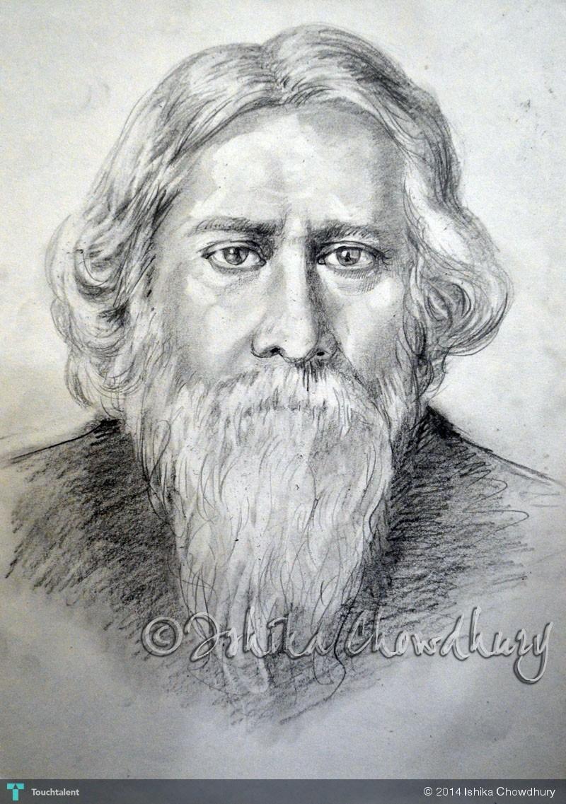 Rabindranath Tagore in  Rabindranath Tagore Sketch