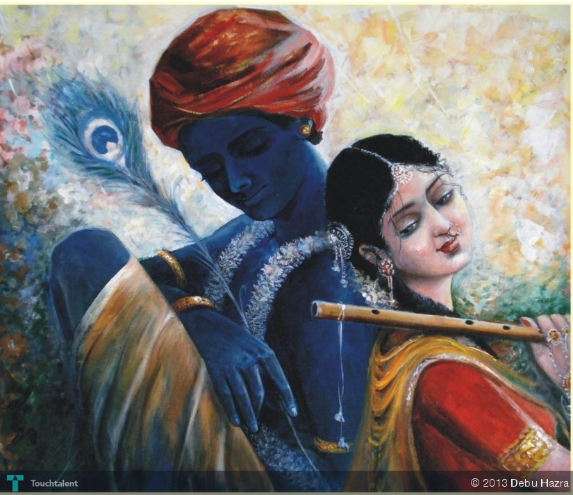 Krishna Radha Paintings 3d Radha-krishna in Painting by
