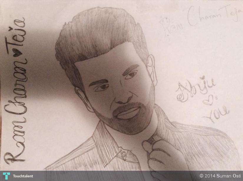 Ram Charan Teja Sketching Suman Osti Touchtalent