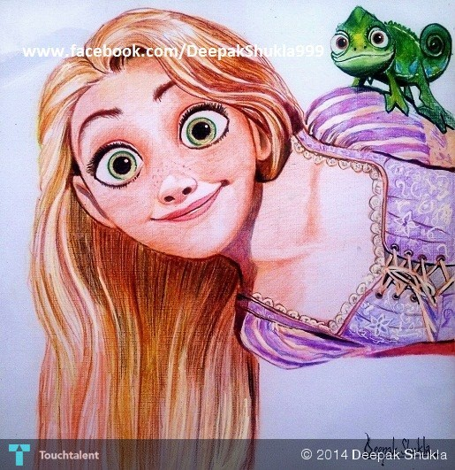 Rapunzel..-Pencil-on-textured-paper-10-x-10-in-159111