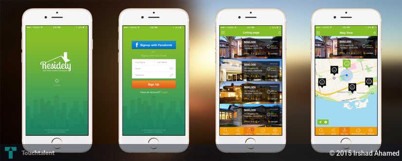 Real Estate App Design Irshad Ahamed Touchtalent