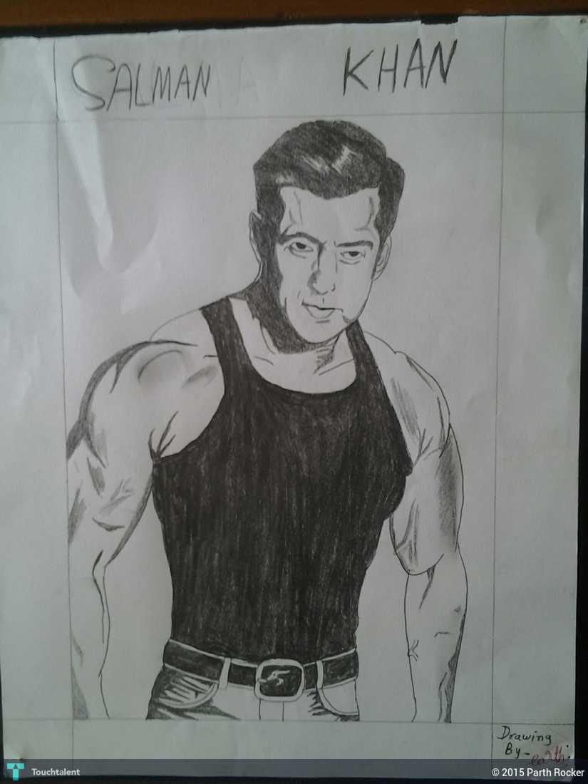 Salman Khan Sketch Wallpaper Salman Khan Pencil Drawing in