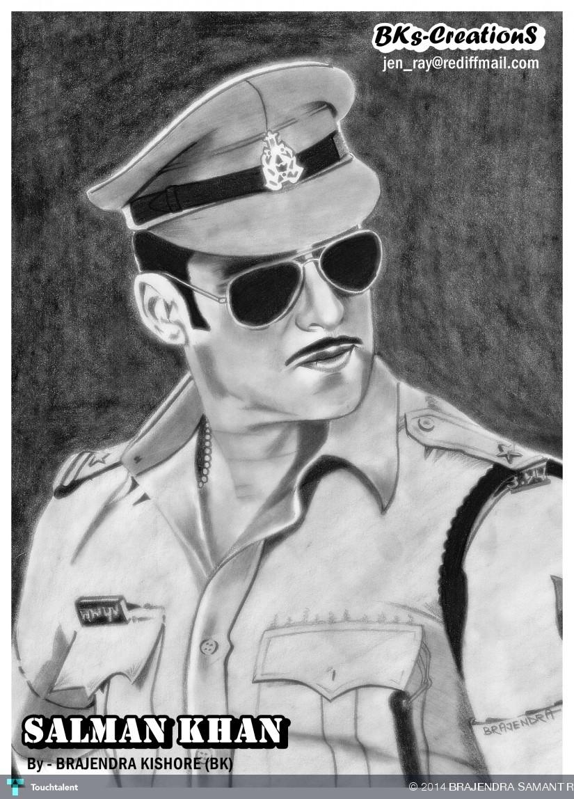 Salman Khan Sketch Wallpaper Salman Khan by Brajendra