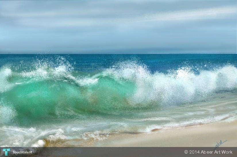 The Great Wave Off Kanagawa Digital Art Ocean Waves - WallDevil
