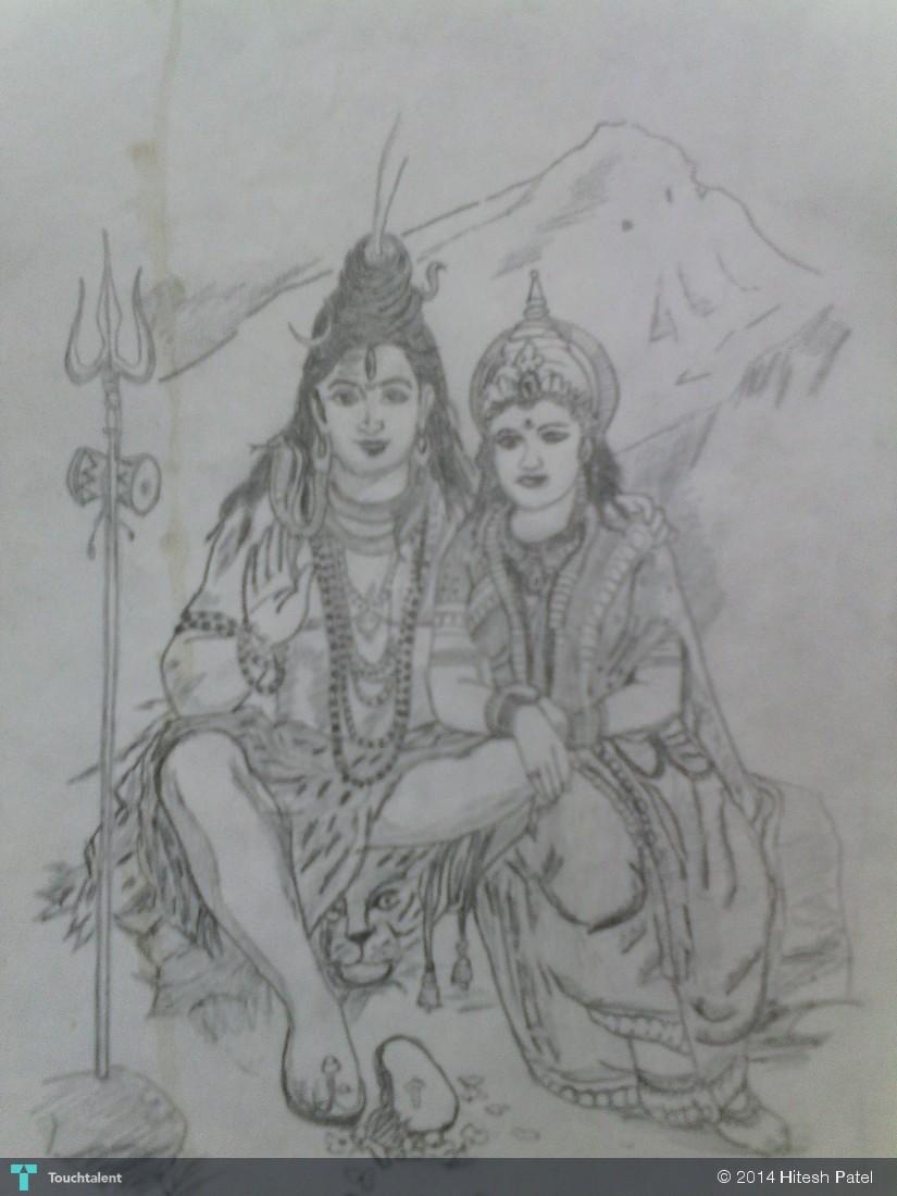 Shiv parvati sketching hitesh patel touchtalent