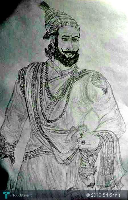 shivaji maharaj   sketching sri srinis touchtalent