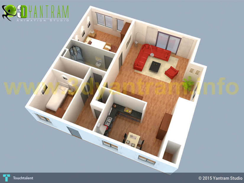 Small House 3d Floor Plan Uk Touchtalent For Everything Creative