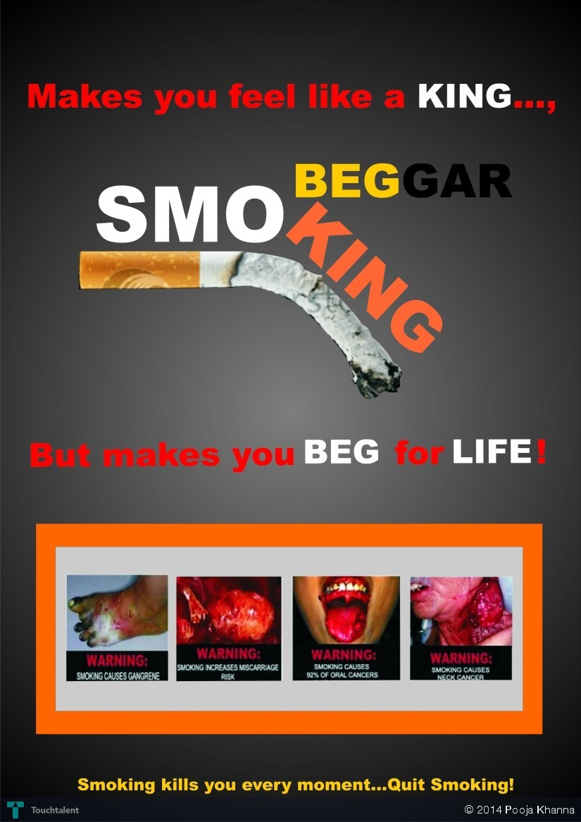 Poster design using corel draw - Smoking Is Injurious To Health Poster Designing In Coreldraw In Design By Pooja Khanna