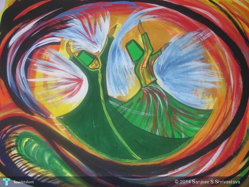 Sufi Dance Meditation Poster Colour 22 X 28 Inch Touchtalent