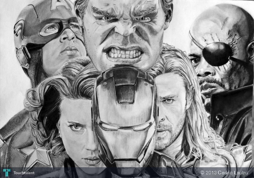 The Avengers Format A3 - Sketching | Cedric Lautru ...