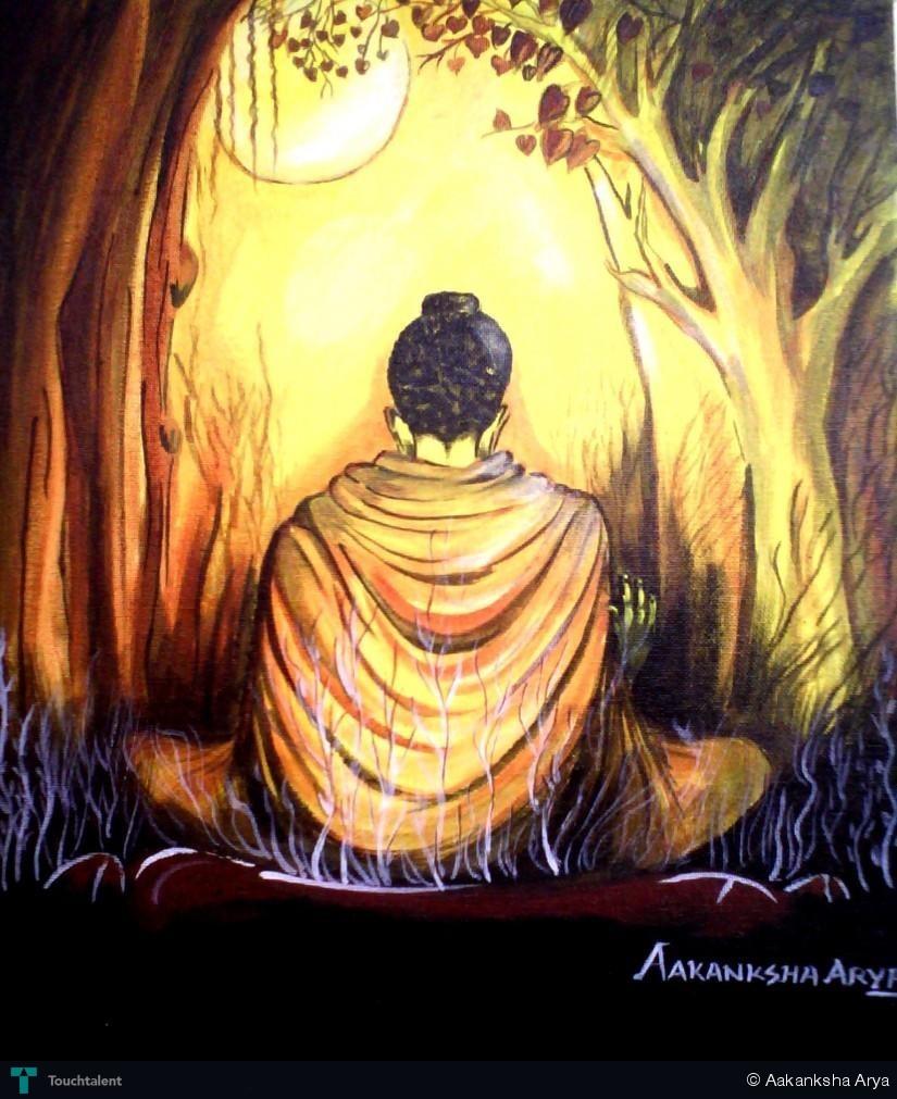 The buddha painting aakanksha arya touchtalent for Buddha mural paintings