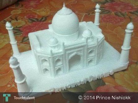 Thermocol Taj Mahal Size 20cmx15cmx20cm Touchtalent For