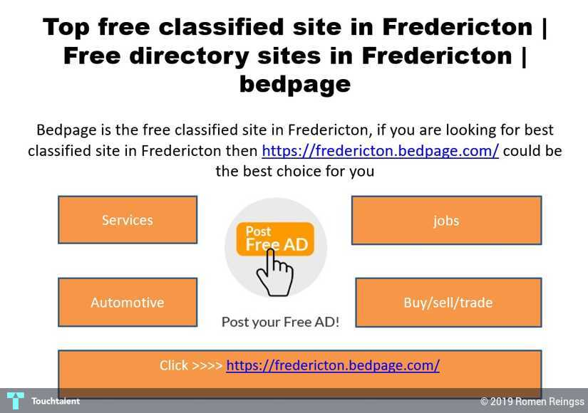 Top Free Classified Site In Fredericton | Free Directory