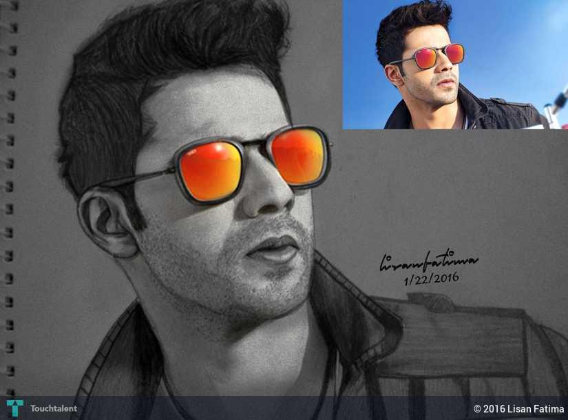 Varun Dhawan - Sketching   Lisan Fatima   Touchtalent