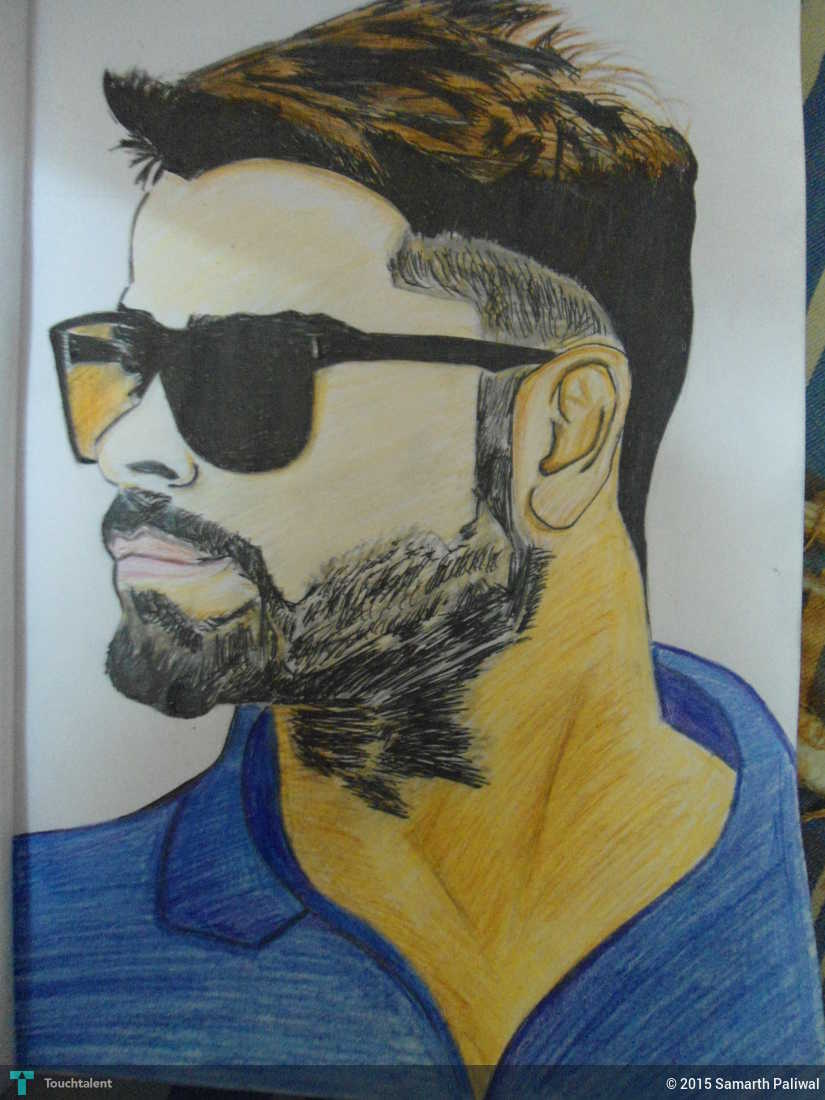 Virat kohli sketch with and 2 other 2 others