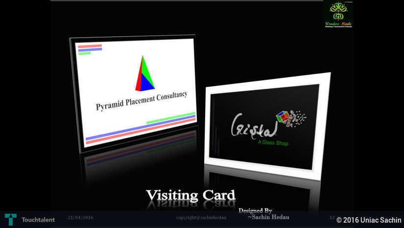 visiting card sample design