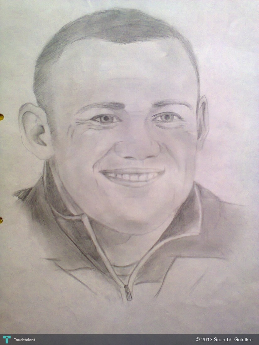 Wayne Rooney Sketch Wayne Rooney Quick Sketch Sketching Saurabh Golatkar