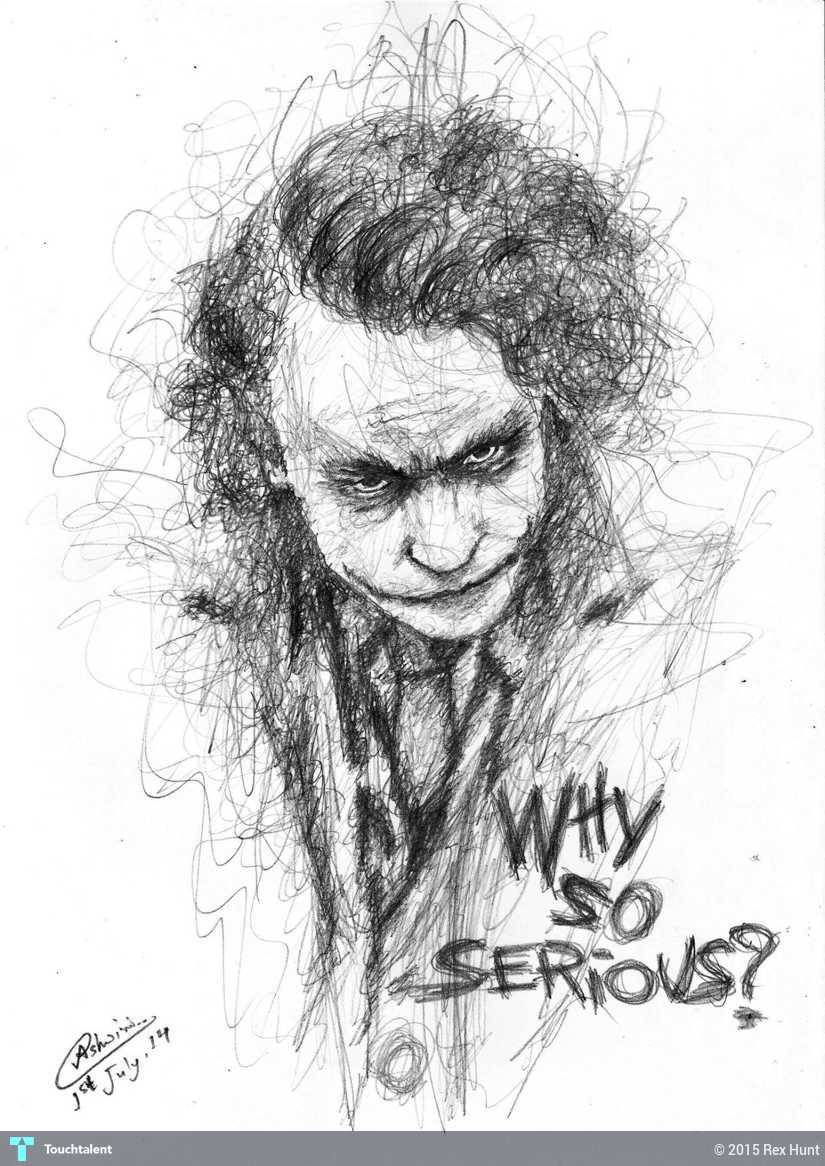 why so serious sketching ashwini dey touchtalent