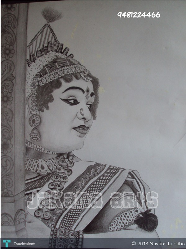Yakshagana Pencil Drawing Bestpencildrawing