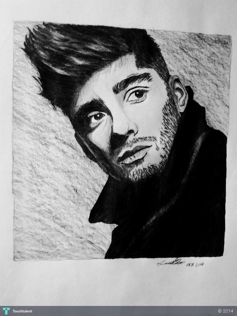Zayn malik portrait in sketching by laura čerba