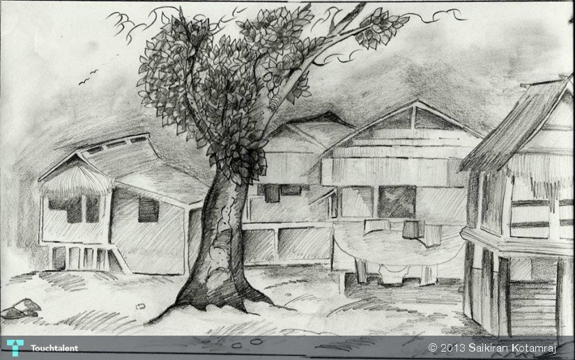 Along The Road , A Small Village Scene | Touchtalent - For ...