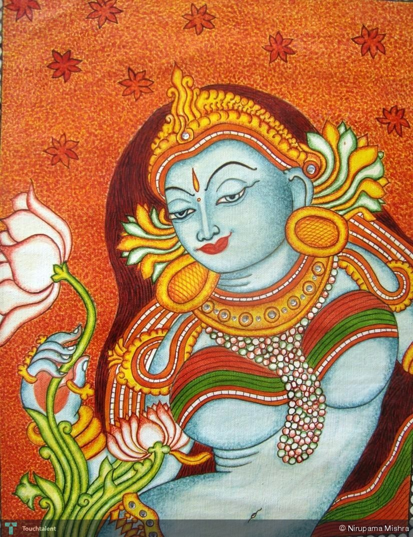 Apsara painting nirupama mishra touchtalent for Cn mural designs