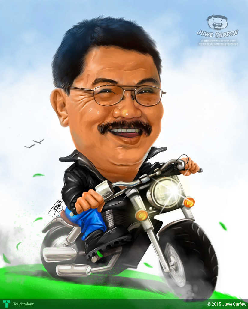 biker caricature | touchtalent - for everything creative