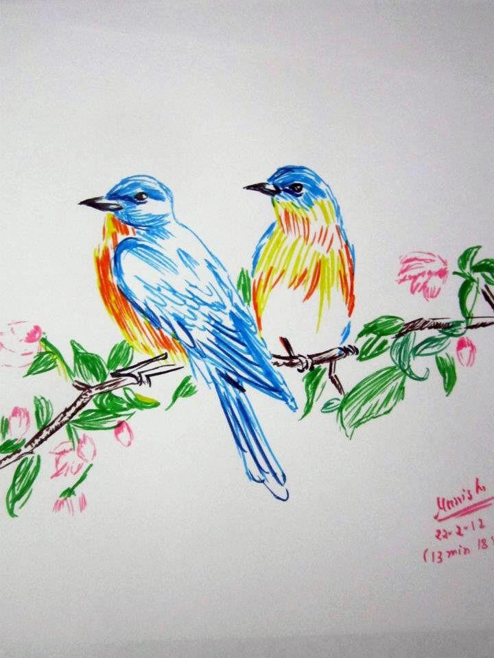 Birds - Sketching by Manisha Swarnkar at touchtalent 3915