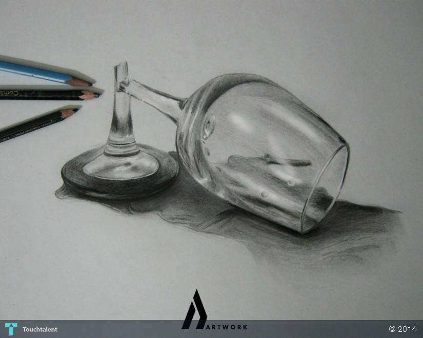 Broken Glass Sketch - Sketching | Ashish Sharma | Touchtalent