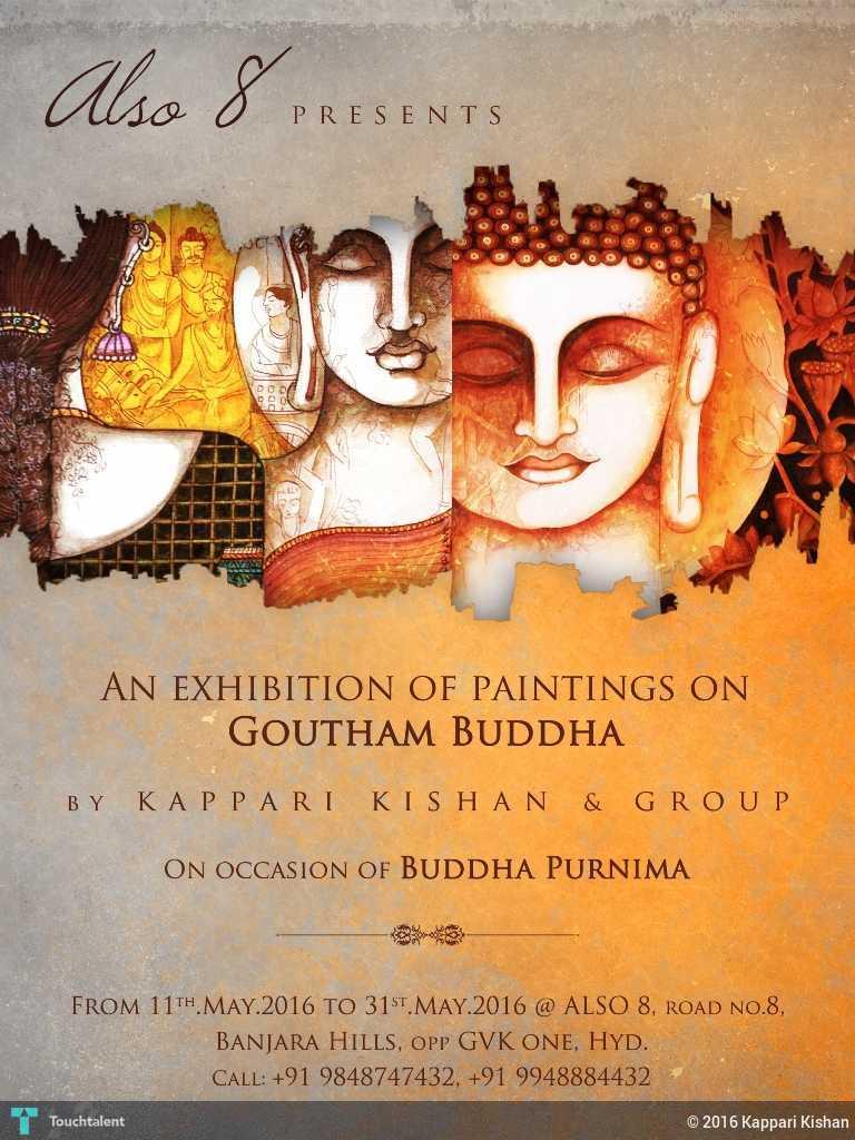 Buddha poornima invitation touchtalent for everything creative buddha poornima invitation in painting by kappari kishan stopboris Images