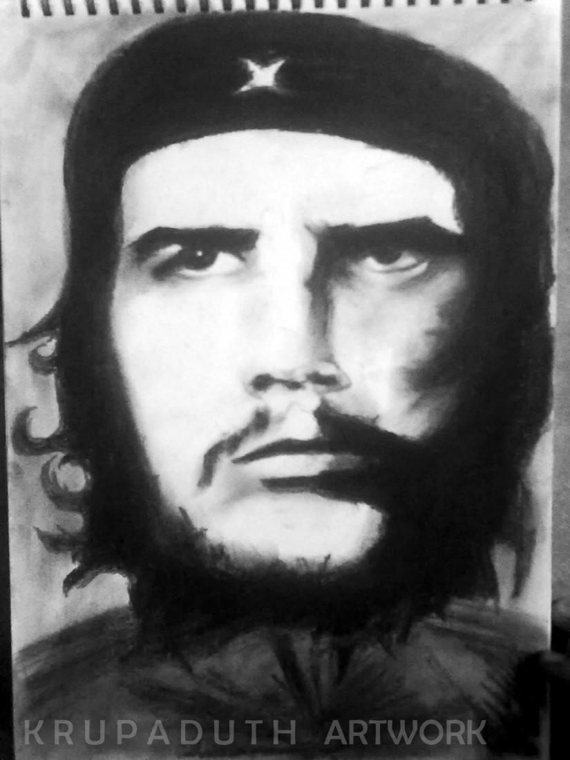 Che Guevera sketch  - Painting by Krupa Duth in My Artwork at touchtalent 11174