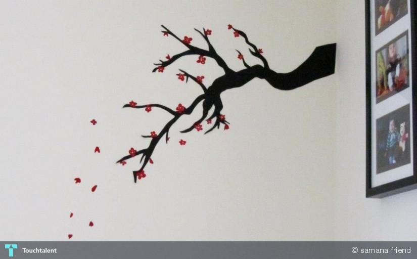 46 stunning and creative sticker designs - Cherry Blossom Metal Wall Art For Pinterest