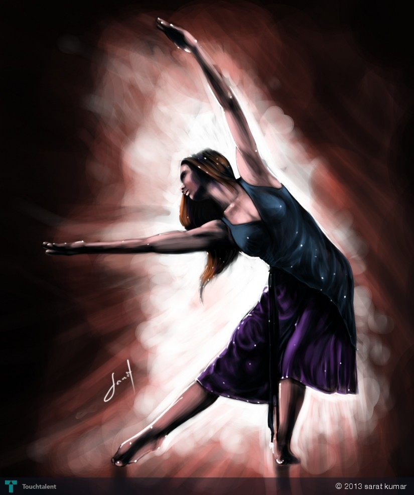 Dancing Girl - Digital Art by Artist Sarat Kumar. Posted on December 18, 2013