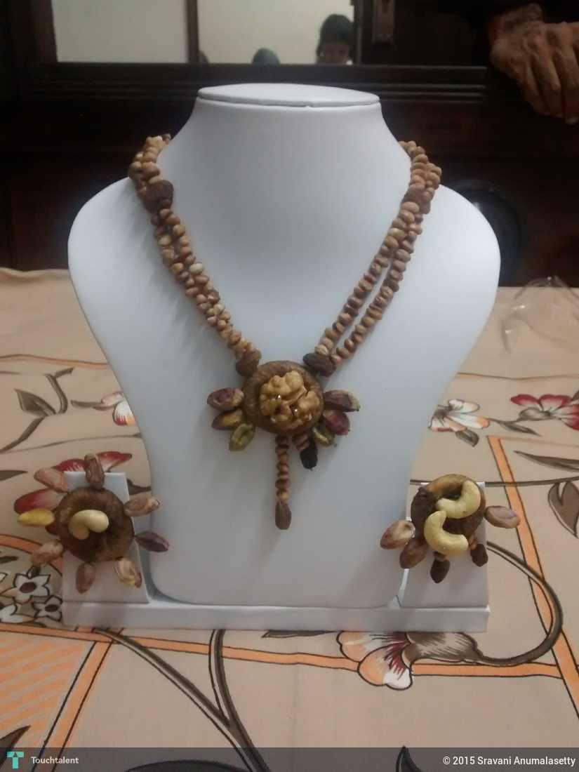 Dry Fruit Necklace - Crafts | Sravani Anumalasetty | Touchtalent