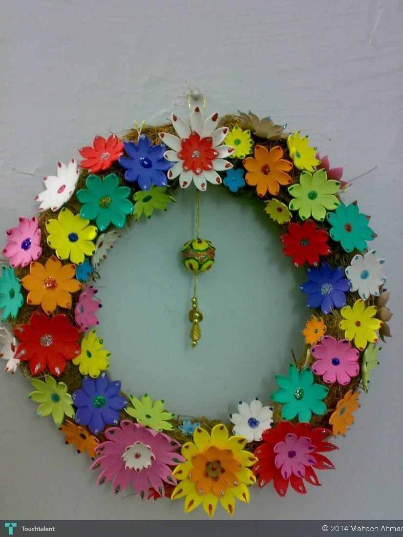 Fomic Flower Decoration Crafts Maheen Ahmad Touchtalent