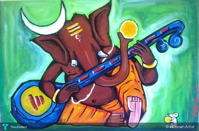 Ganesha In Mood Touchtalent For Everything Creative