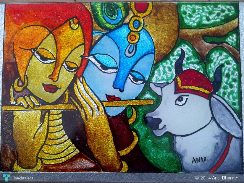 Lord Krishna Designs Lord Krishna in Painting by