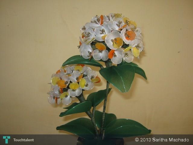 Handmade Nylon Stocking Flowers - Crafts | Saritha Machado ...
