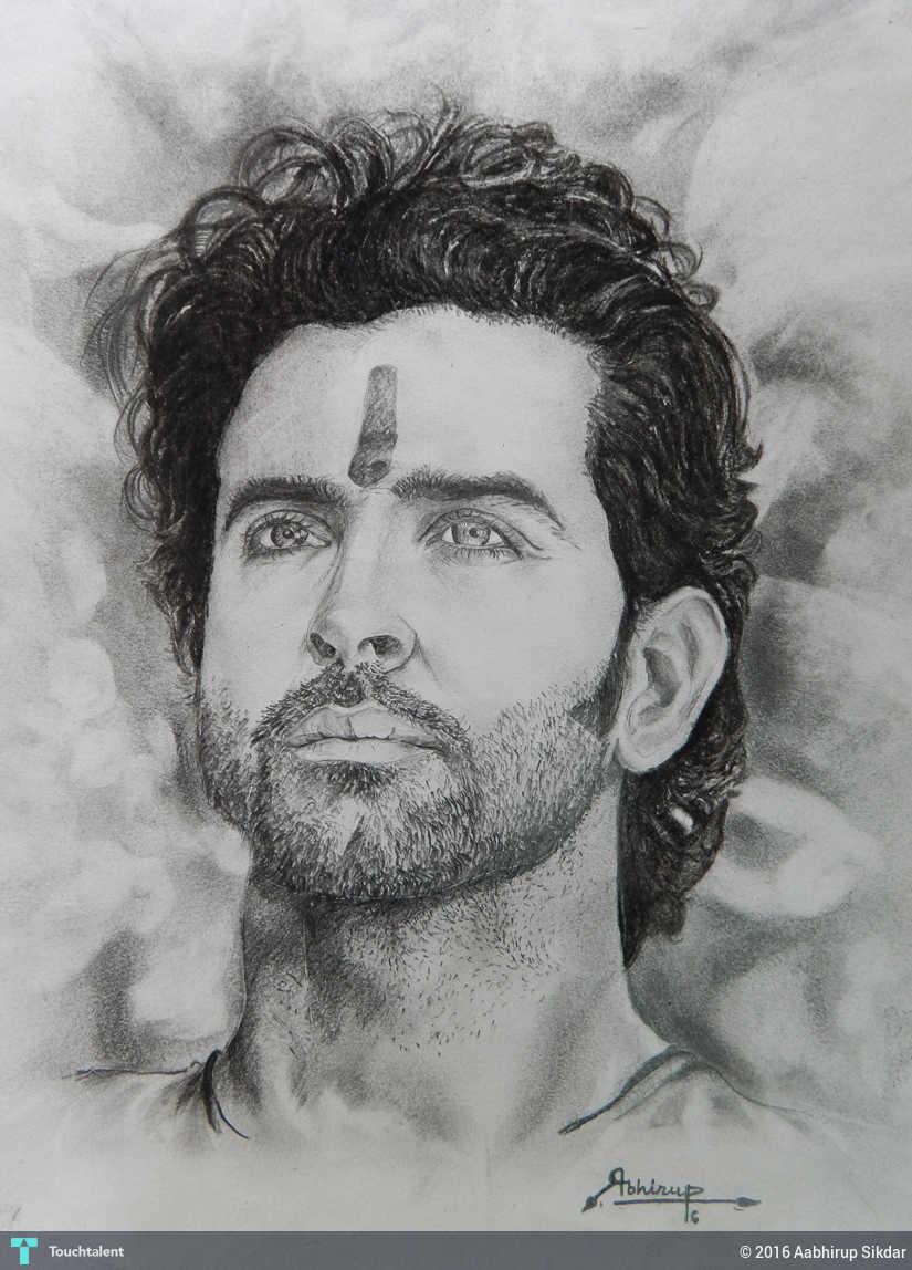 Art By Me hrithik roshan artme || abhirup sikdar || - sketching | aabhirup