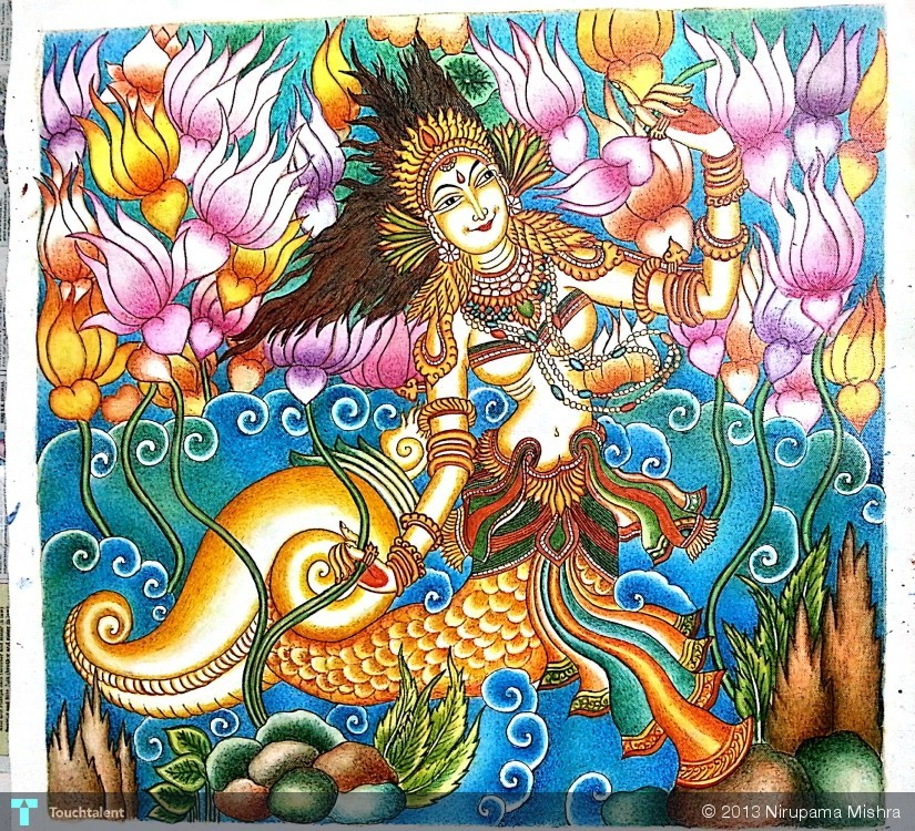 Nirupama mishra india touchtalent for Creative mural art