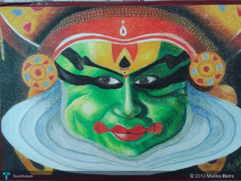 Kathakali Dancer in Painting