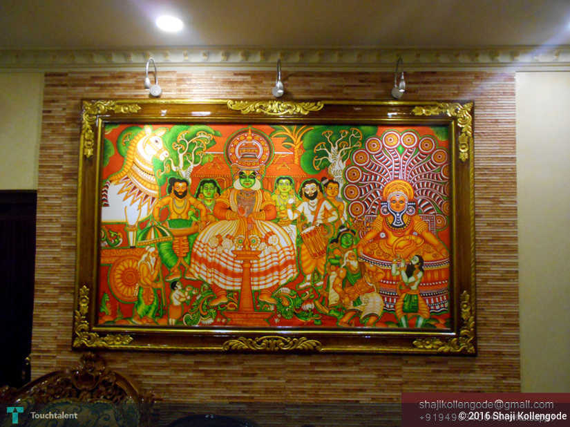Kerala mural painting painting shaji kollengode for A mural is painted on a